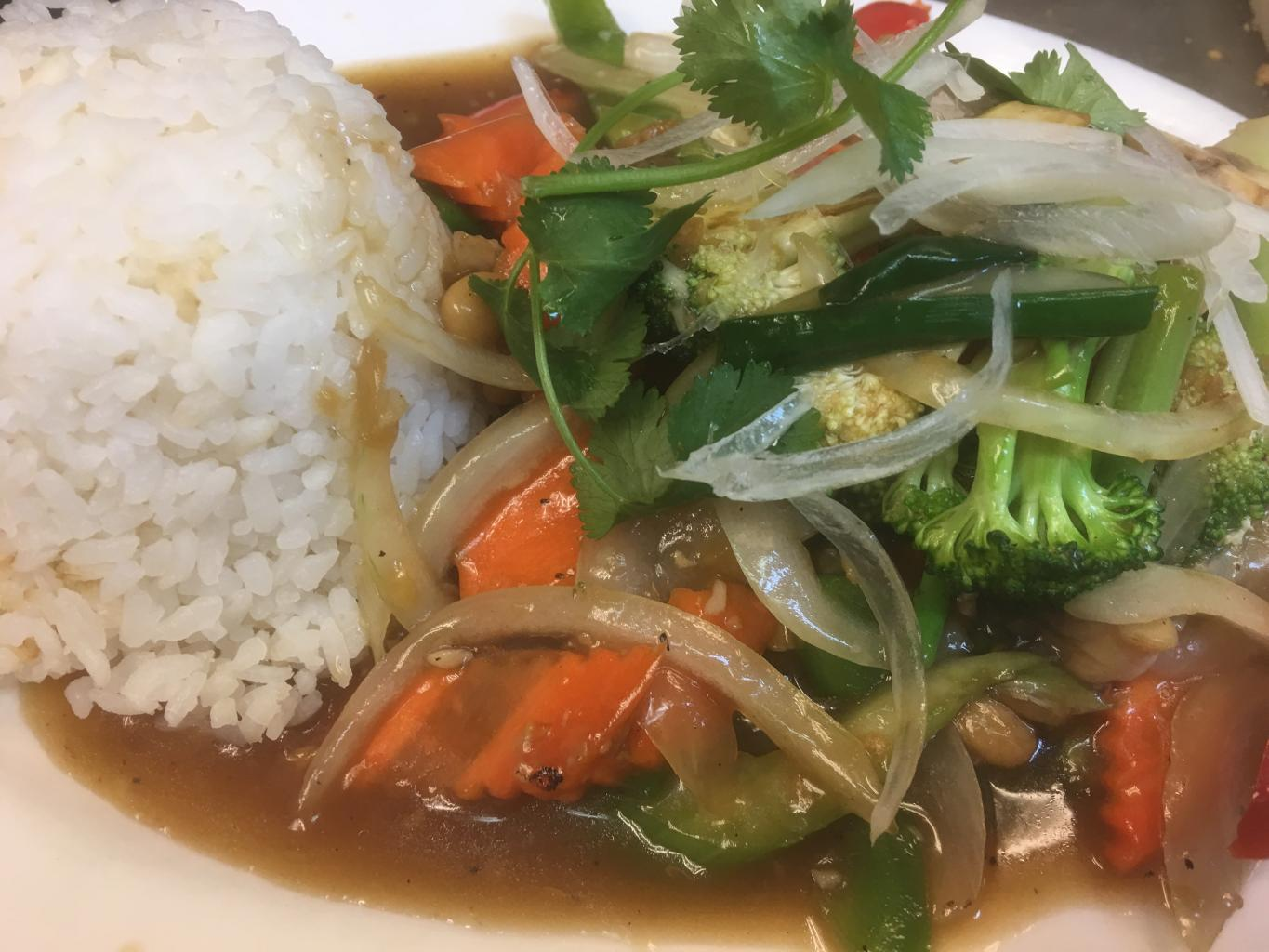 Bai Ka Prao with Jasmine Rice
